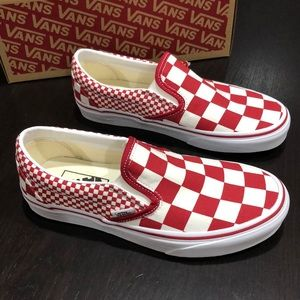 Vans Classic Slip-On Mix Checker Chili Pepper